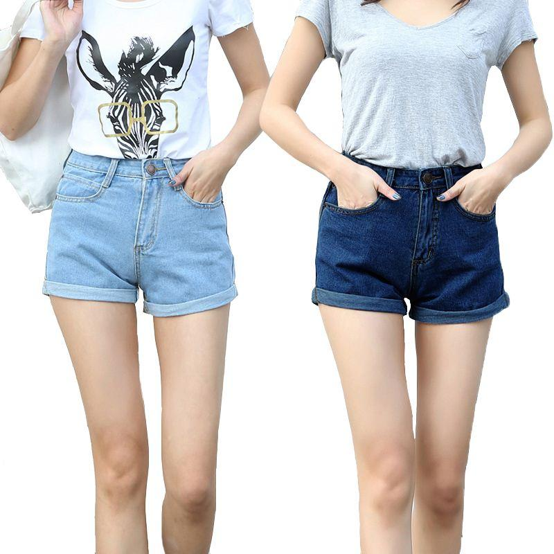 b398cff3171e 2019 2017 New Fashion Women High Waist Denim Shorts Female Short Jeans For Women  Ladies Hot Shorts PT032 From Winkiya