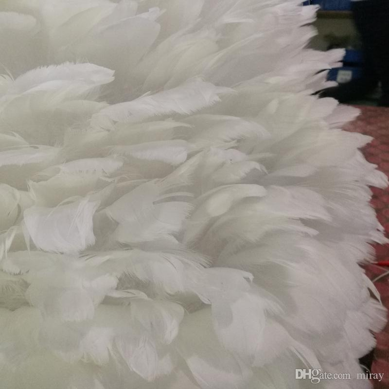 Stokta beyaz tüy avize sıcak kuş yuva yaratıcı prenses evlilik odası düğün sahne ışıkları postmodern LED ışıkları