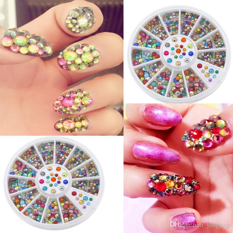 2017 Fashion Colorful Round Nail Color Mixing 2mm 3mm Acrylic Color ...
