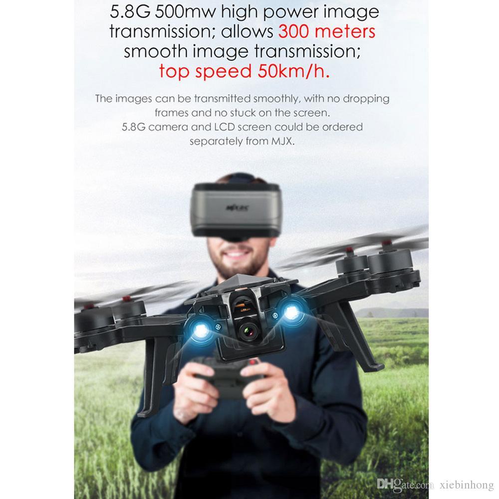 MJX Bugs 6 Profesyonel Yarış RC Drone Kamera ile HD 720 P 5.8G FPV ve VR Cam Canlı Video Quadcopter RTF Fırçasız Motor