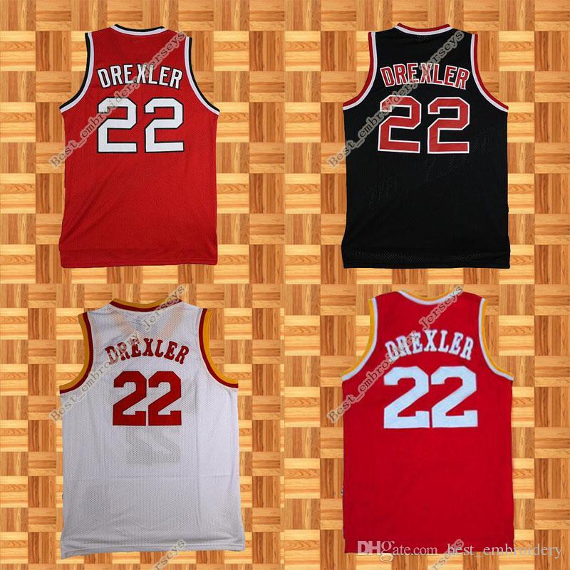 7de49b913ee ... Authentic White 1996 All Star Throwback 2017 Retro Portland Jerseys 22  Clyde Drexler Jersey Houston Basketball Jerseys White Red Black Throwback  Mesh ...
