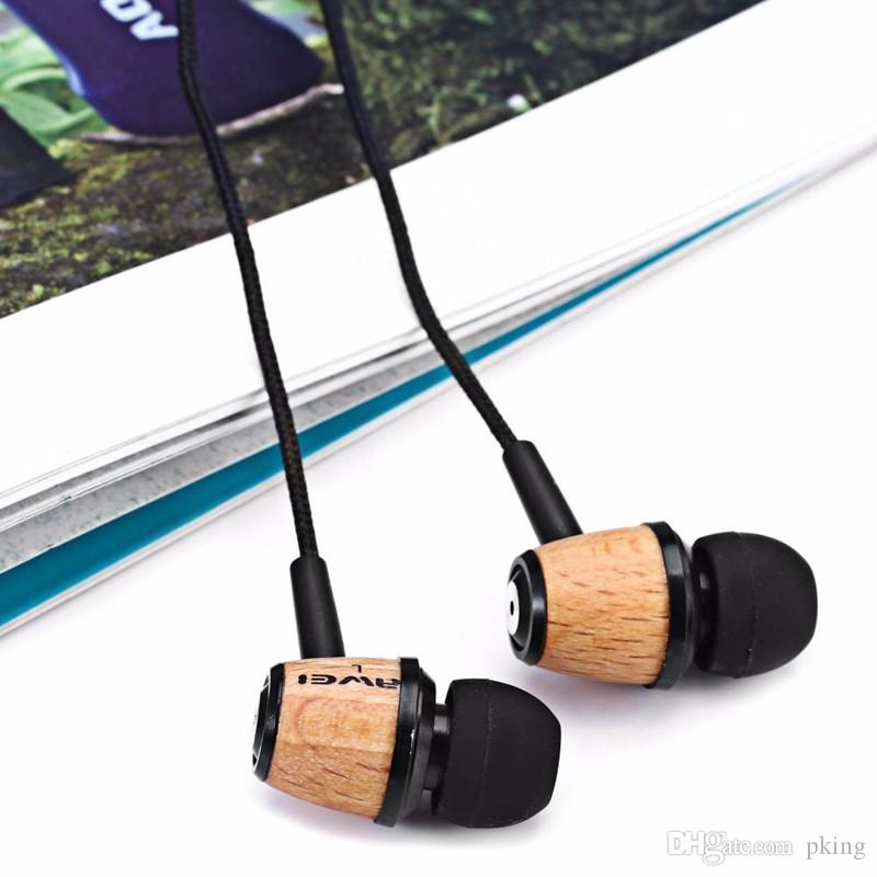 Original Super Bass Stereo Earphone AWEI Q9 3.5mm Fone De Ouvido Wood Style In Ear MP3 Music Earphone for Xiaomi Mobile Phone