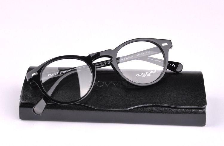 0a4fc1036ca 2019 Vintage Optical Glasses Frame Oliver Peoples Ov5186 Eyeglasses Gregory  Peck Ov 5186 Eyeglasses For Women And Men Eyewear Frames From Hlxm