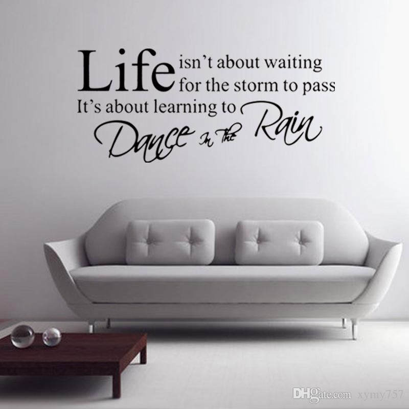 Wall Quotes Decals Dance In The Rain Removable Stickers Bedroom Sitting Room Decors Vinyl Diy Art Life Diy