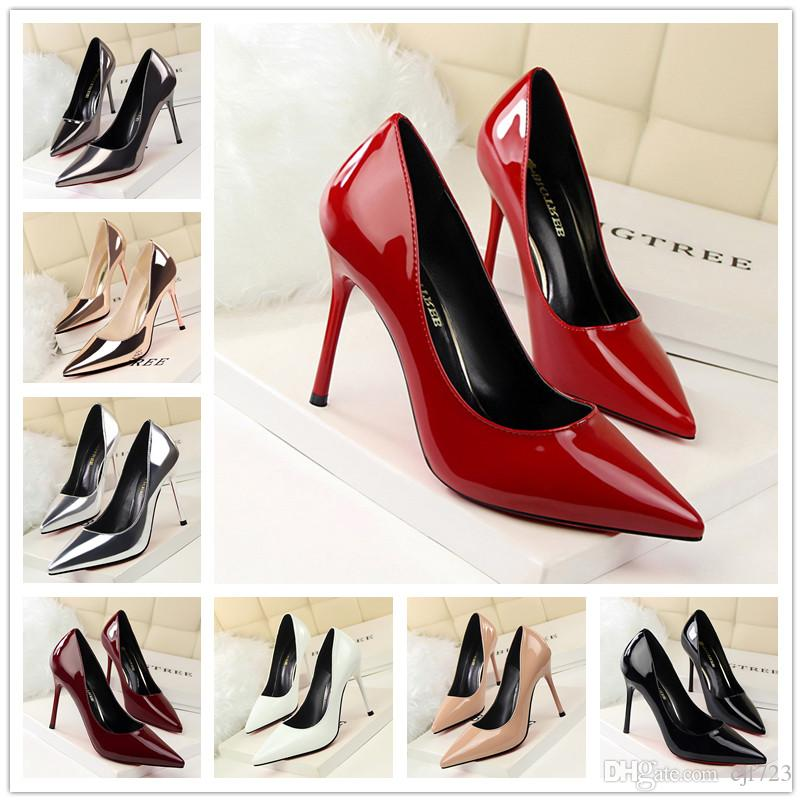 Sexy Hight 2017 Ladies Brand Thin For Women Pointed Toe New Sole Nude Pumps  High Heels Shoes Genuine Leather Summer Shoes Womens Loafers From Cjf723 8d8603a9ed44