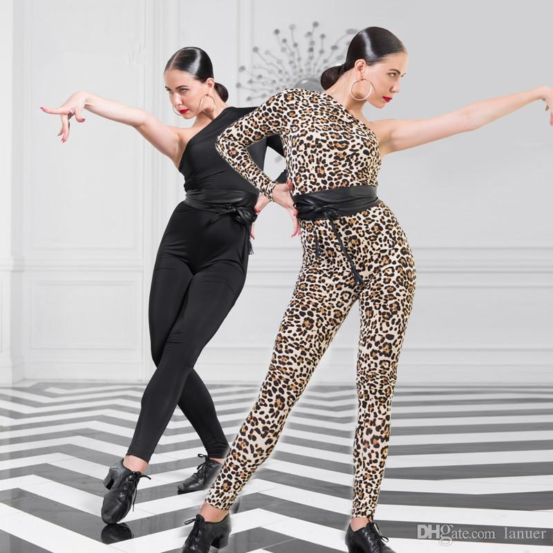 6f6f3c7de 2019 New Adult Latin Dance Dress Salsa Tango Cha Cha Ballroom Competition  Group Leopard Tight Body Pants S L From Lanuer, $60.29 | DHgate.Com