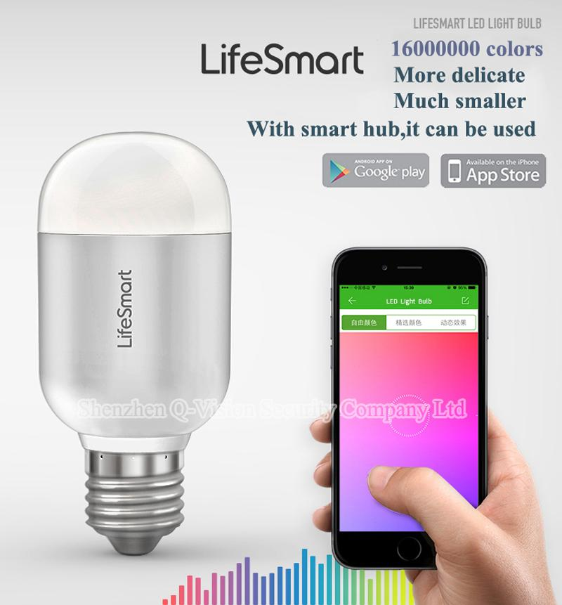Wholesale-Lifesmart Smart LED Bulb Dimmable Light E27 Automation Wireless  Remote by APP IOS Android 160 Million Color Dimming Lamp 433MHZ