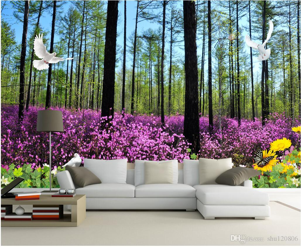 3d room wallpaper custom photo non woven mural beautiful forest 3d room wallpaper custom photo non woven mural beautiful forest flowers decoration painting picture 3d wall murals wallpaper for walls 3 d xmas wallpaper xp amipublicfo Choice Image