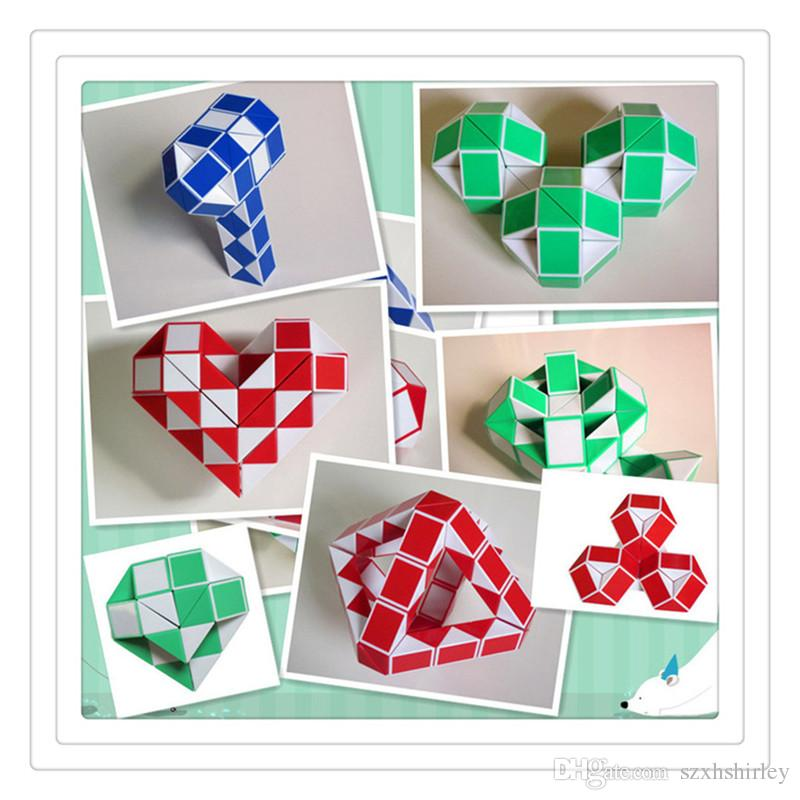 12 Steps Sale Price New Funny Professional Speed Magic Snake Shape Toys Game Twist Cube Puzzle Toys Gift For Kids 6 Colors Hot 24 Steps Toys & Hobbies