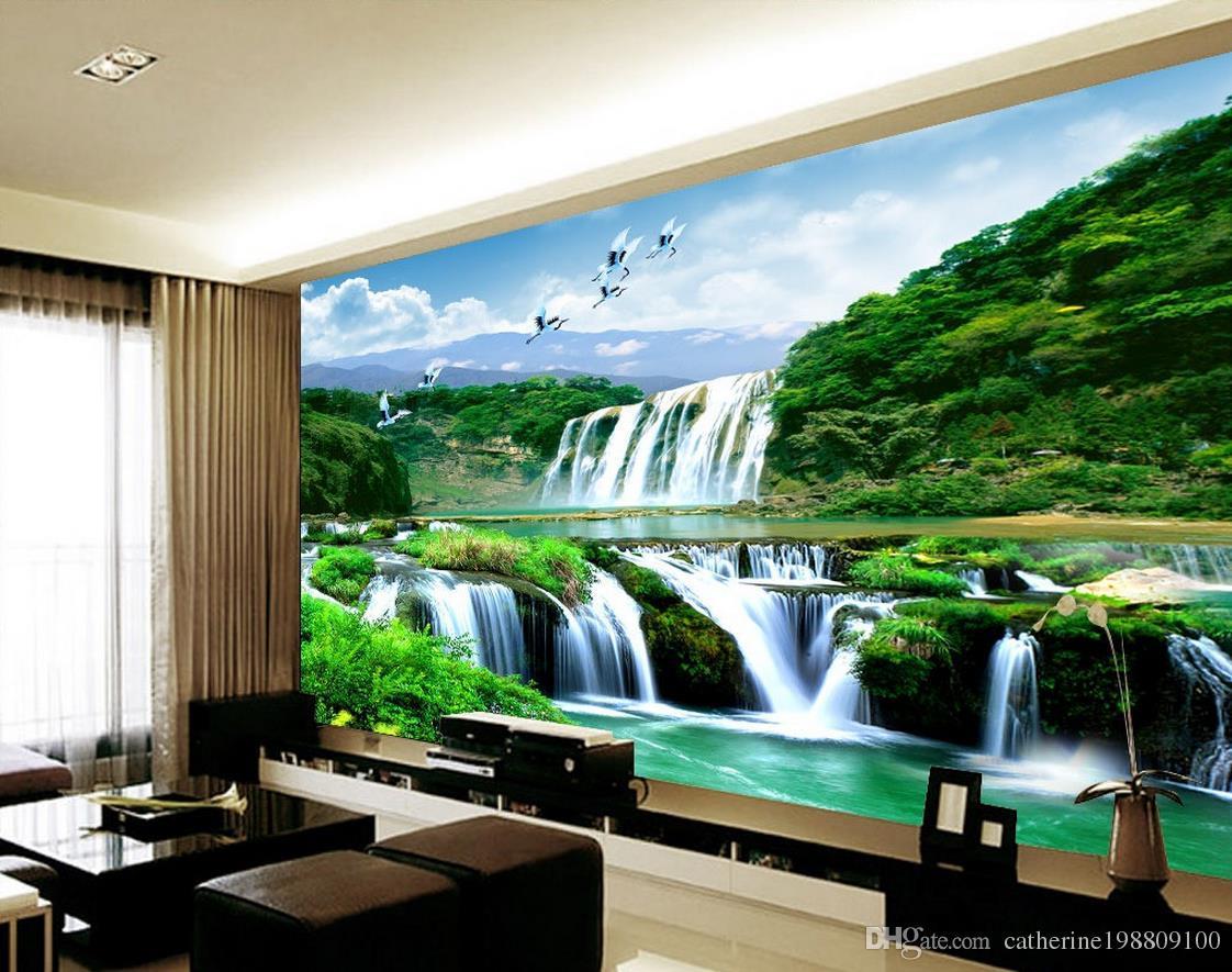 Custom 3d Nature Mural Wallpaper Nature Scenery For Walls: Custom Any Size Mural 3d Wallpaper 3d Wall Papers For Tv