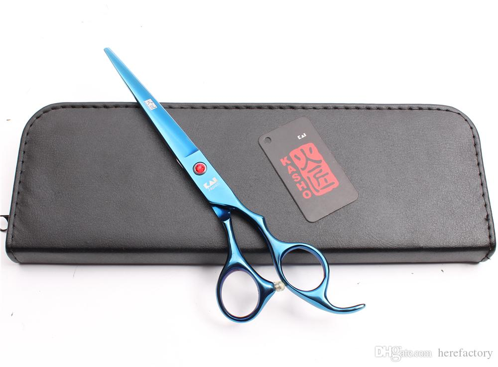 """6.5"""" 7"""" Japan 440C Kasho Professional Dogs Cats Pets Hairdressing Shears Grooming Shears Cutting Thinning Shears Salon Styling Tools H4007"""