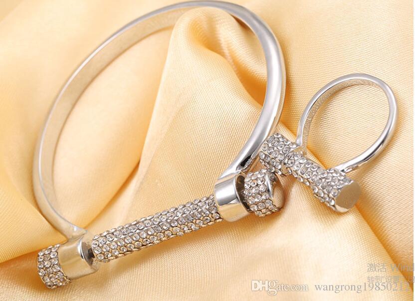 Полный алмазов письмо D браслет Браслет кольца подкова винт хорошее качество браслеты один цвет доставка бесплатно