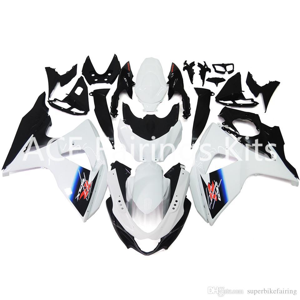 Carenados de inyección para Suzuki GSXR1000 GSX-R1000 09 10 11 12 13 14 K9 ABS Kit de careta plástica de la motocicleta Caperuzas de carrocería Blanco Negro
