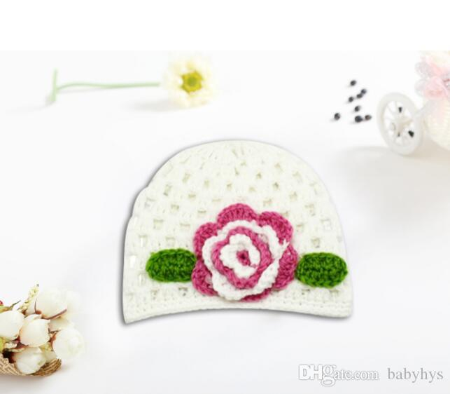 kids handmade cotton knitted hats yarn crochet hats in flower and fruit watermelon handmade winter hats for 0-3T baby winter