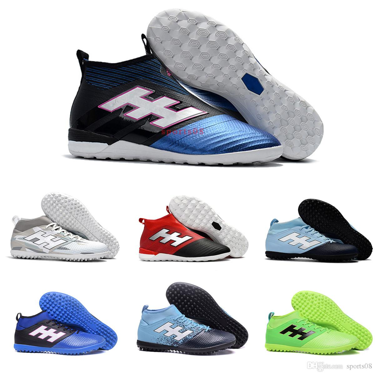 buy popular db256 a44e4 New Football Boots ACE Tango 17.3 Primemesh IN IC TF Indoor High Ankle  Soccer Shoes 17 Purecontrol Pure Control Mens Women Soccer Cleats
