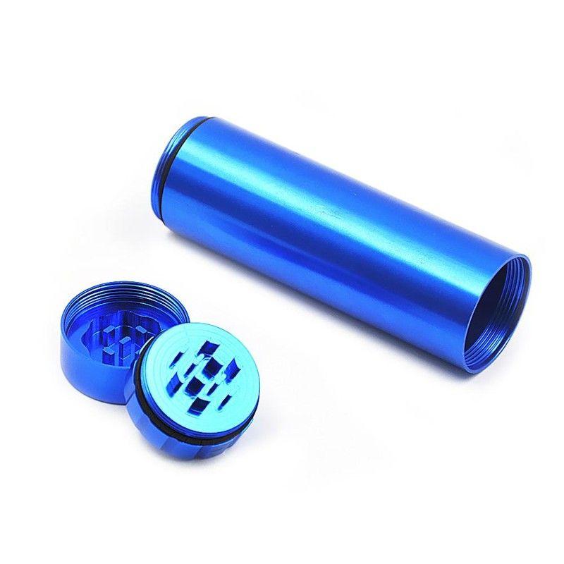 30mm Cep Sigara Durumda Otomatik Ejeksiyon Dugout Metal Öğütücü Tutucu Ile Alüminyum Sigara Kılıfı Kompozit Kutu Taşıyıcı