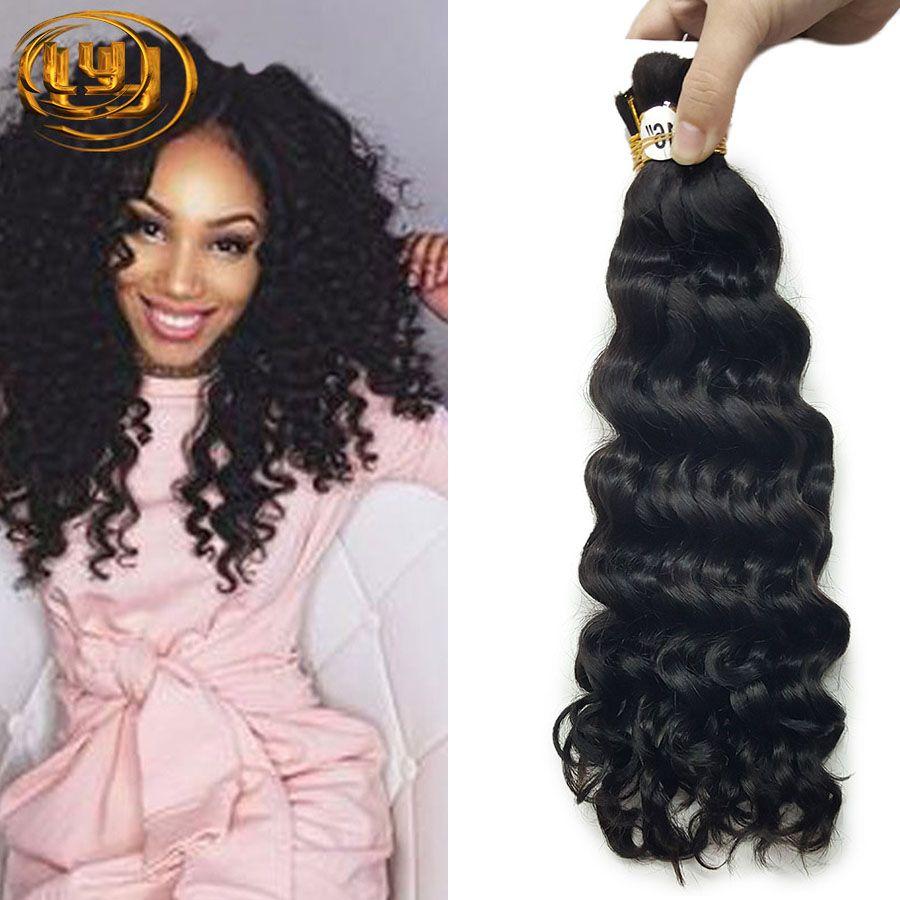Brazilian Deep Curly Human Hair Extensions Bulk 50gpiece Top