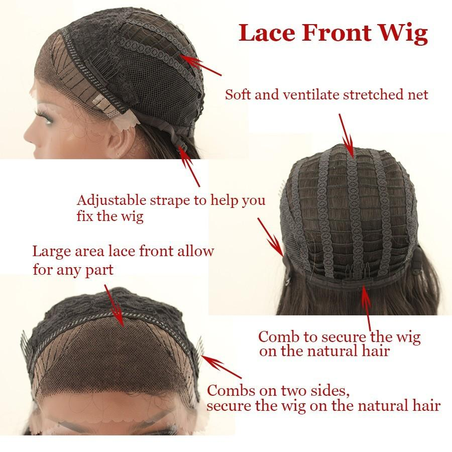 Hot Sexy Natural Black Braided Wigs with Baby Hair Long Braids Full Wigs Glueless Synthetic Lace Front Wigs for Black Women Heat Resistant