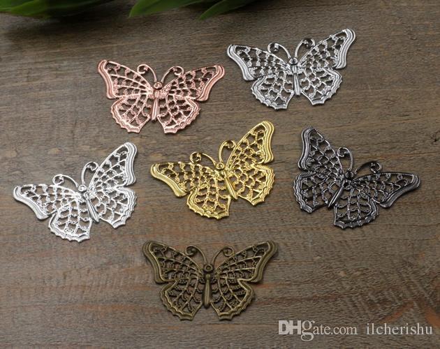 3 Farfalla Charms Oro Nero Ciondolo Fascino Jewellery Supplies