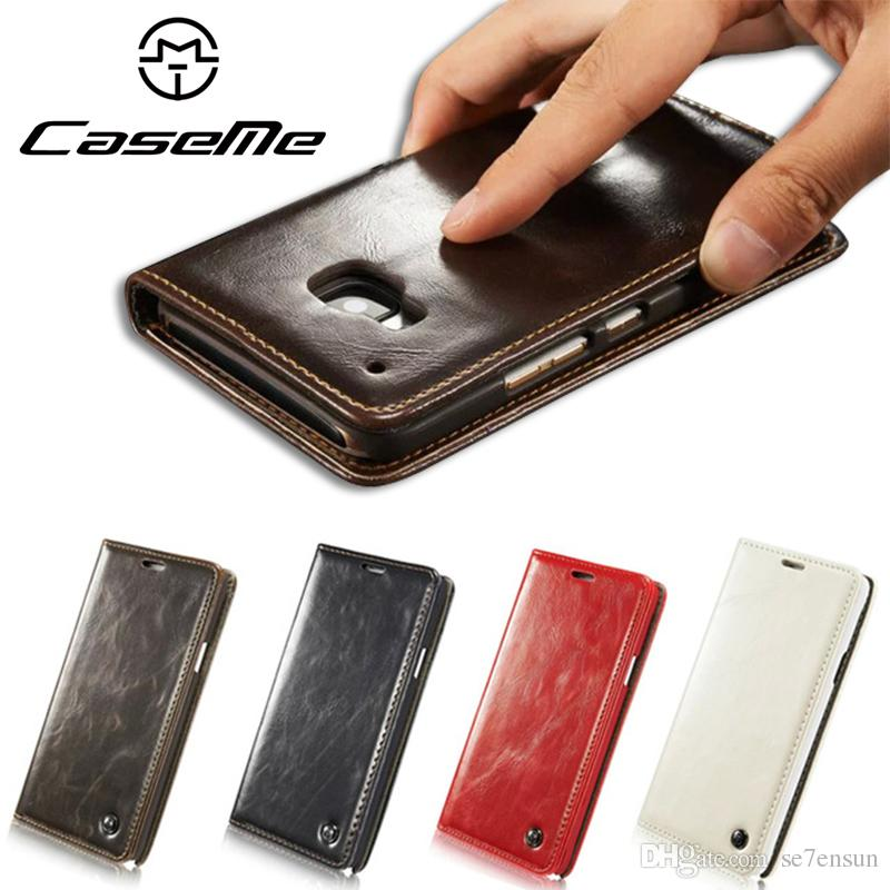 watch 968d4 d5ef1 CaseMe Brand Case for HTC ONE M8 M9, Luxury R64 Leather Stand Wallet Cell  Phone Cover with Card Slots for htc one m9 M8, New Arrival