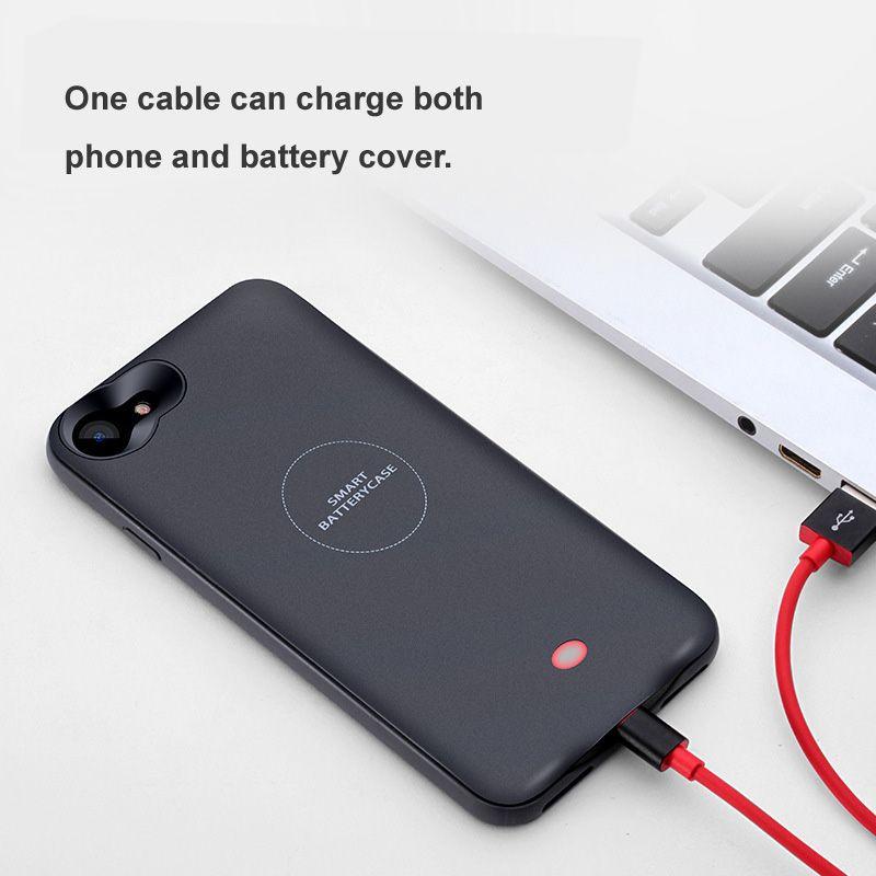 IPhone 6 s 6 s Için pil Durumda 3500/4000 mAh Güç Bankası Şarj iPhone 6 6 s 7 Artı Pil Şarj Kılıf Kapak