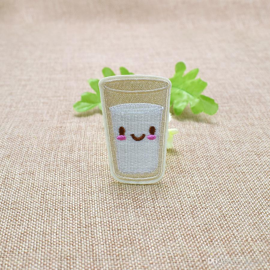 Cute Milk Embroidered Patches for Kids Clothing Bags Iron on Transfer Applique Patch for Dress Jeans DIY Sew on Embroidery Sticker