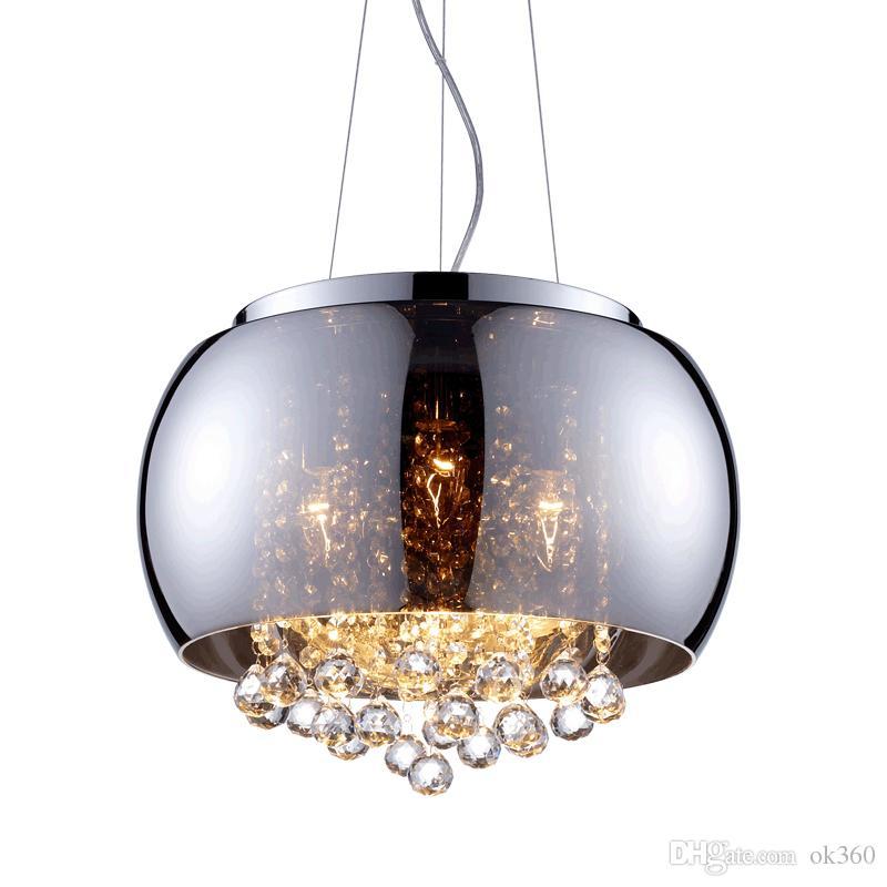 Discount Modern Glass Lampshade Crystal Balls Pendant Lamp ...
