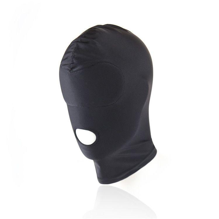BDSM Bondage Black Mask prodotto del sesso giocattolo Fetish SM coppia uomo donna Hood Mouth Eye Slave Gioco adulti