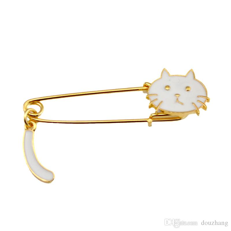 Fashion Lovely Enamel Cat Lapel Pin Brooch For Suit Accessories Brooches Women Wedding Party Jewelry Wholesale