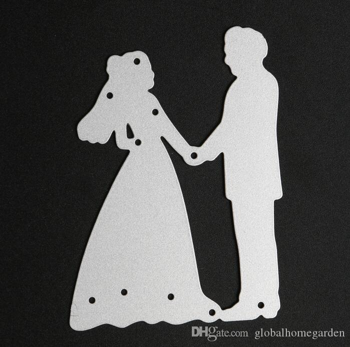 Metall Braut Bräutigam Hochzeit Stanzformen Schablonen Für DIY Scrapbooking sp