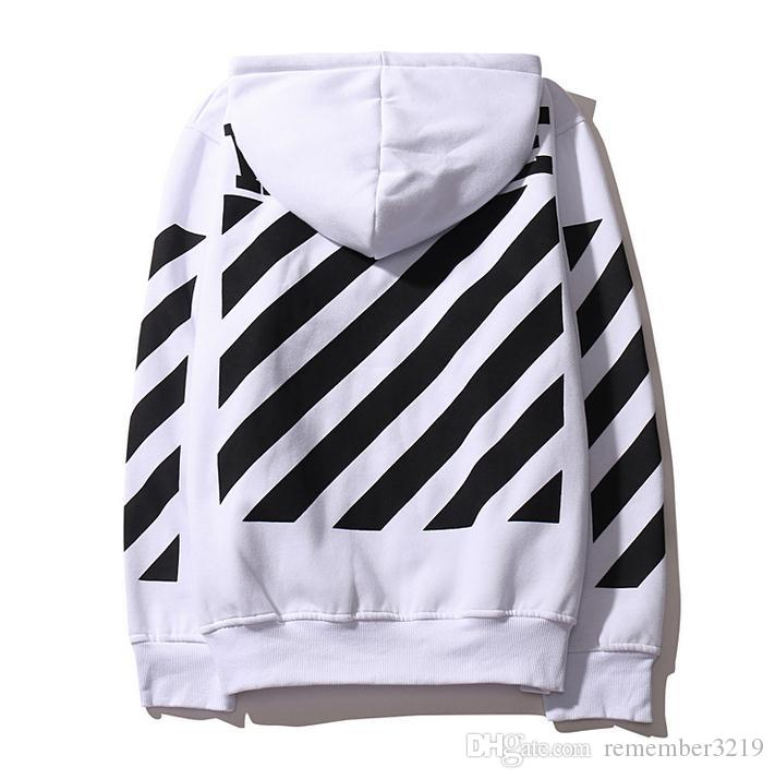 off white co virgil abloh diagonals hoodie off white men and women kanye west black and white hoody sweatshirt from dhgatecom