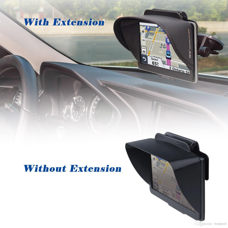 TFY GPS Navigation Sun Shade Visor Plus Flexible Visor Extension Piece for Garmin nüvi 2797LMT 7-Inch Portable GPS and Other 7-Inch GPS