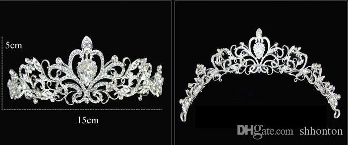 Girl Tiaras Crowns Wedding Hair Jewelry neceklace,earring Cheap Wholesale Fashion Girls Evening Prom Party Dresses Accessories HT01