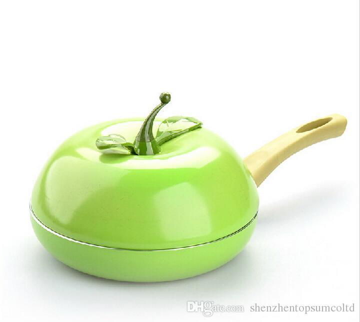 Sıcak Satış Meyve Tava Renk Tencere Seramik Izgara Tava Dökme Alüminyum Tencere Gaz Izgara Tava