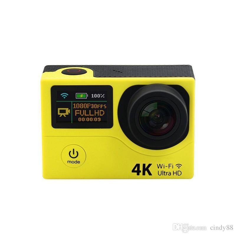 Caméra de sport ultra 4K H3R H3 WIFI caméra d'action de sport 2,0 pouces à double écran étanche SPCA6350 Caméra pour casque à 170 degrés