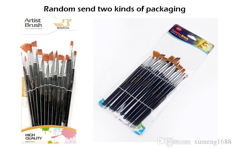 / Set Artists Paint Brush Set - ألوان مائية الغواش الاكريليك النفط الطلاء النايلون الشعر فرش-رسم الفن المورد