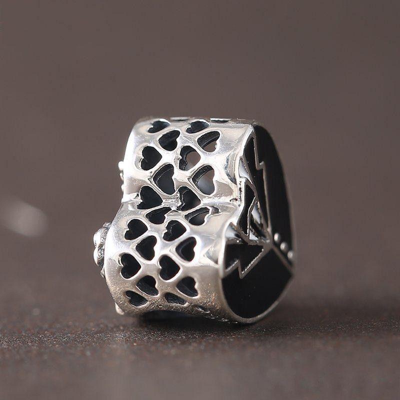 New Original 925 Sterling Silver Our Special Day Enamel Heart Charms Beads Fit European Women Bracelet DIY Fine Jewelry Making