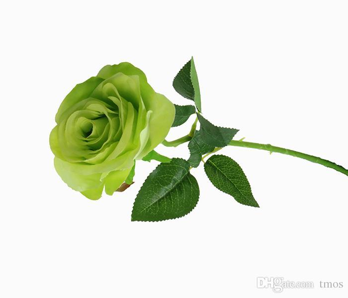 وارتفعت جملة 20.5inch الاصطناعي الأبيض الوردي باقات ارتفع نظرة حقيقية الحرير الزهور 7 لون المزيج فندق ديكور الزفاف ديكور المنزل
