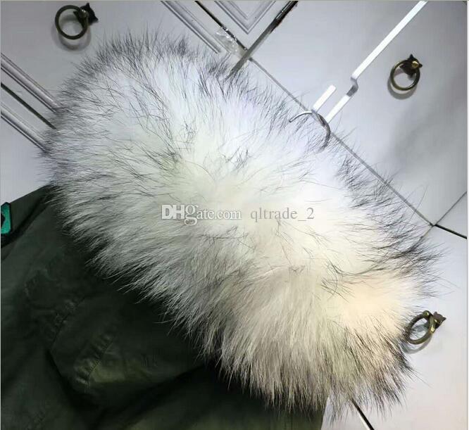 Pelliccia di procione di marca di Meifeng fodera di pelliccia di coniglio bianco fodera verde militare mini parka Patch disegni cappotti di neve
