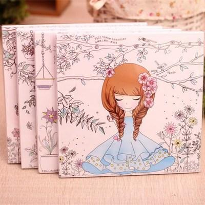 2018 Wholesale 90 Pages Beautiful Girl Colouring Book Secret Garden Coloring For Relieve Stress Kill Time Graffiti Painting Drawing From Baibuju8
