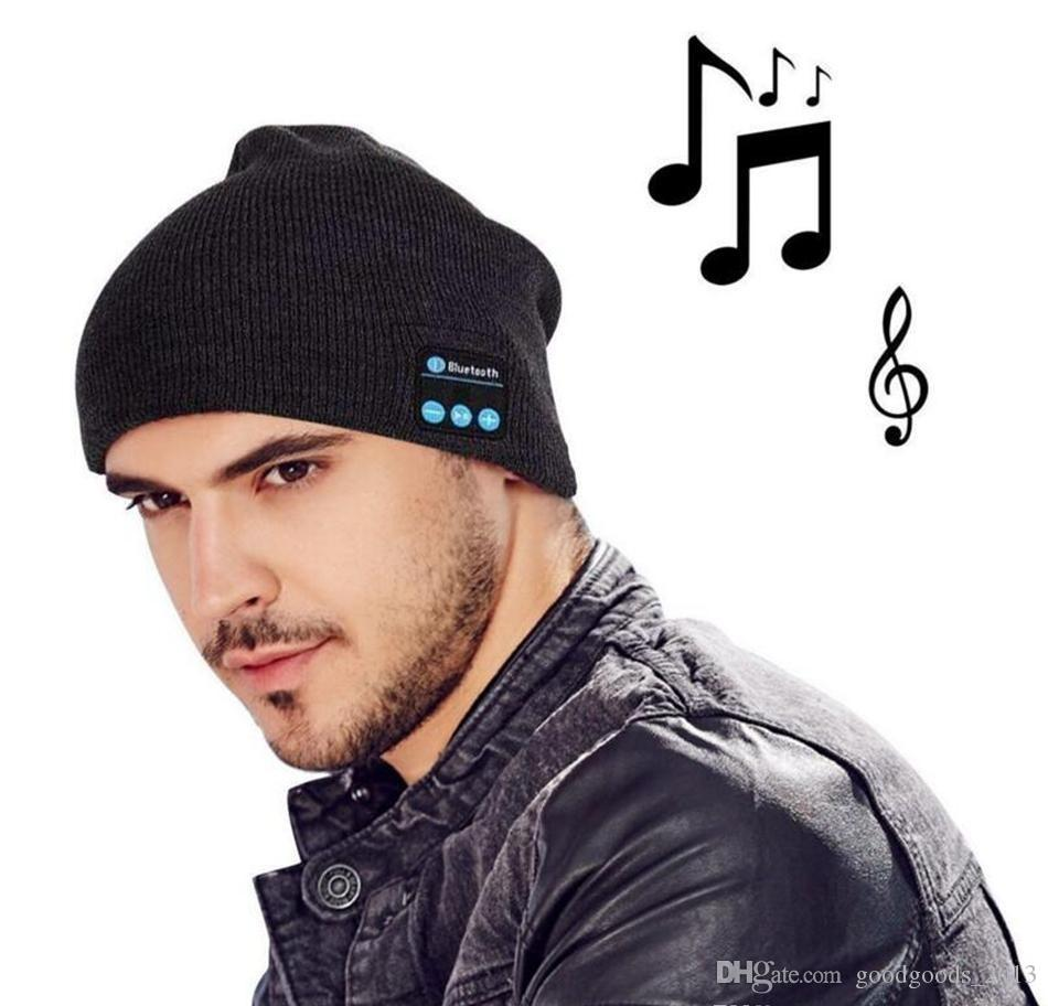 Bluetooth Music Beanie Hat Wireless Smart Cap Headset Headphone Speaker Microphone Handsfree Music Hat OPP Bag Package