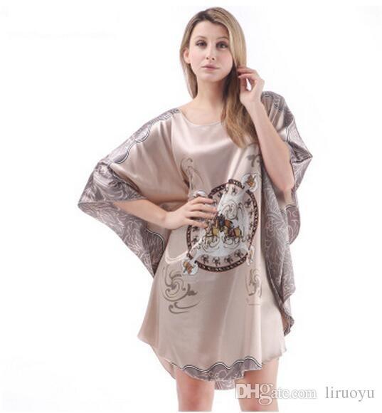 6fd4d47168 Wholesale! Fashion Simple Design Women s Pajamas Bathrobe Anti Silk ...