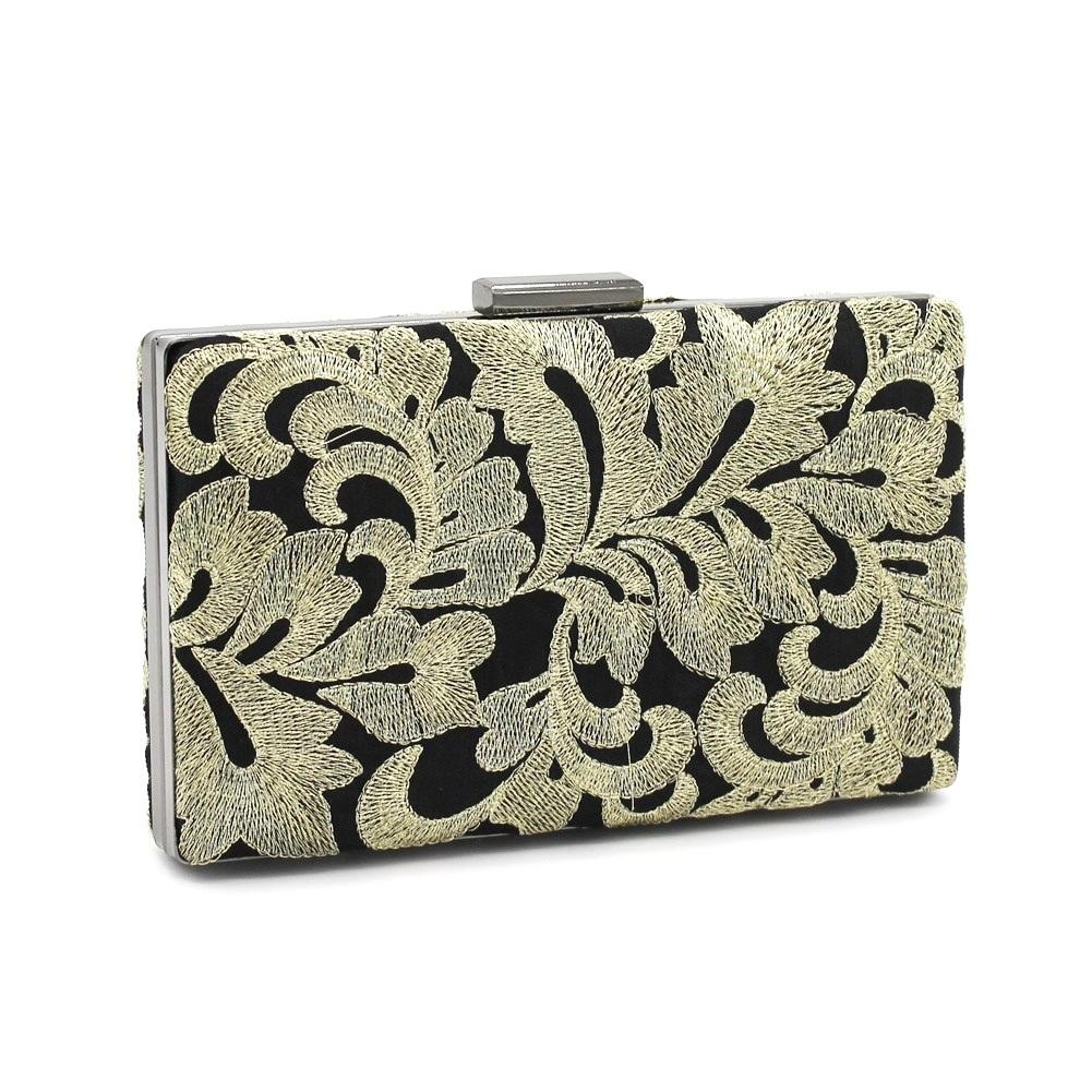 aaa6a47de51b Flower Clutch Women s Handbag Handmade Embroidery Trend Square Large ...