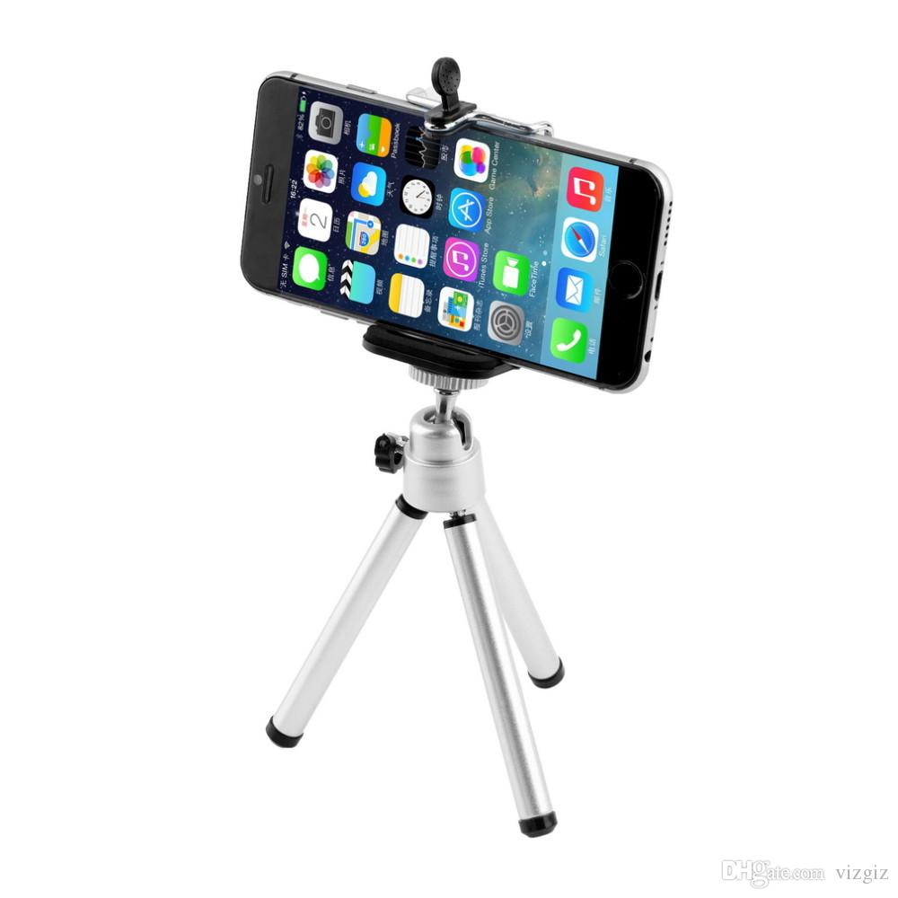 low priced 60a54 9e535 Mini tripod Universal Mini Stand Tripod Mount Holder for iPhone 6 6Plus 5S  5C 5 for SamSung