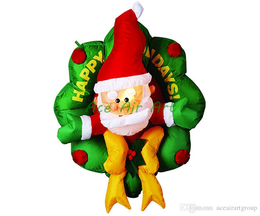 HOT SALES indoor Santa Claus decoration inflatable Christmas gift for advertising