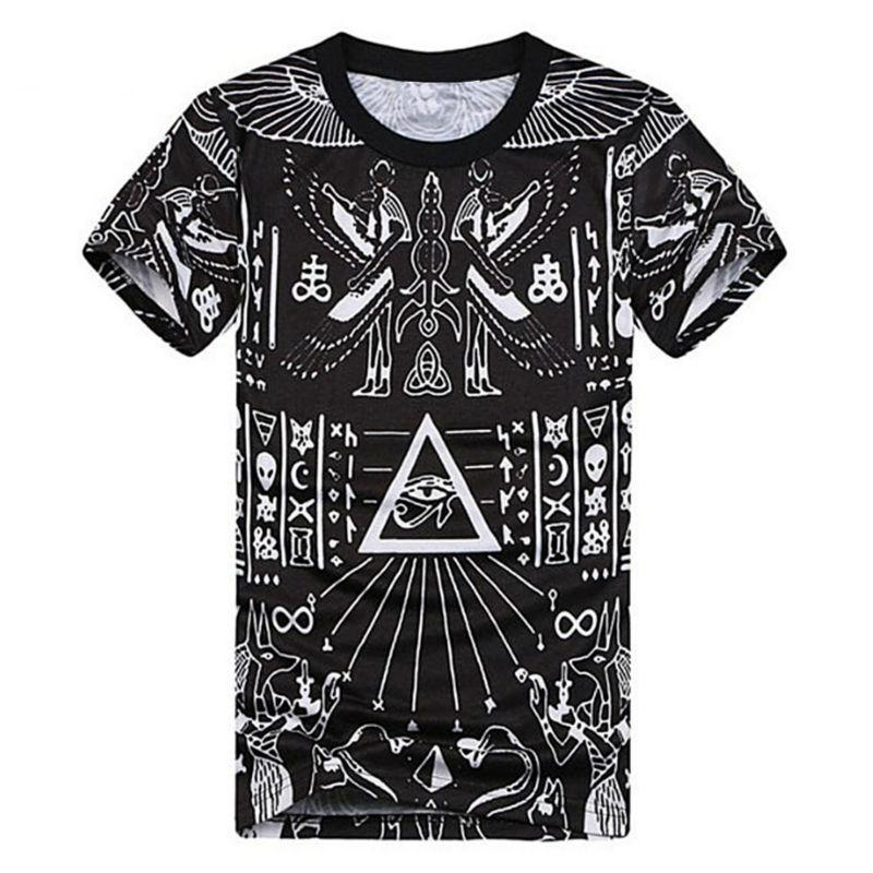 wholesale fashion 3d printed t shirts homme cool pyramid. Black Bedroom Furniture Sets. Home Design Ideas