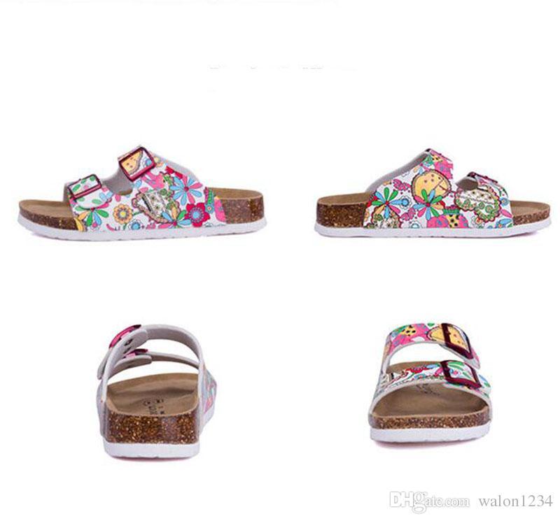 New Summer Beach Cork Slippers Sandals Casual Double Buckle Clogs Sandalias Women Slip on Flip Flops Flats Shoe