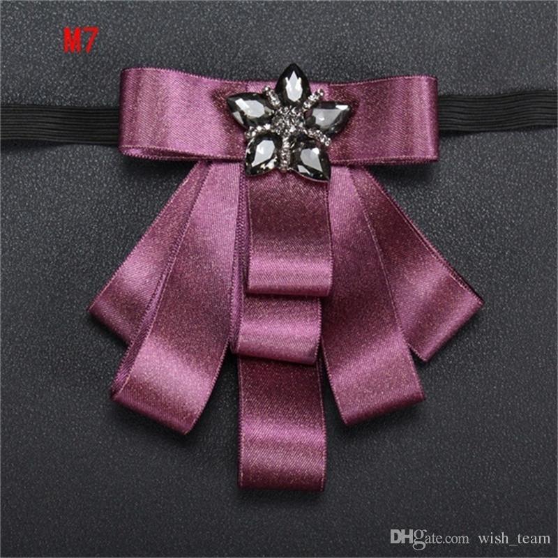 Mantieqingway de negocios de la pajarita de Bowtie del smoking del pañuelo de la boda del novio del ramo de la moda de poliéster Pajaritas para hombres Azul Gravata