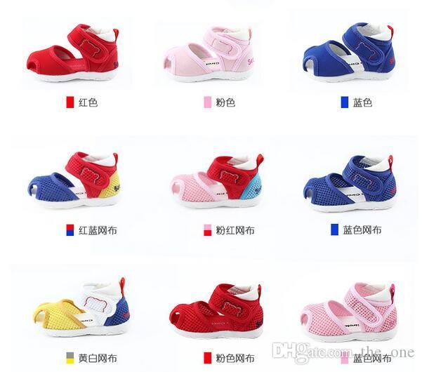 2017 all'ingrosso colorato scarpe da passeggio bambino infantile-resistenti scarpe da bambino 0 ~ 3 anni primavera e autunno scarpe bambino morbido