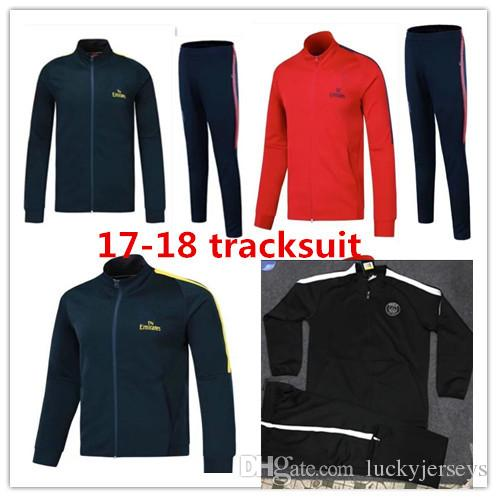 acad49126223 Paris Jacket Zipper Tracksuit 2017 2018 NEYMAR JR DI MARIA CAVANI David  Seaman Jackets Suit 18 VERRATT Paris Football Jacket Tracksuit Set Full  Zipper Kids ...